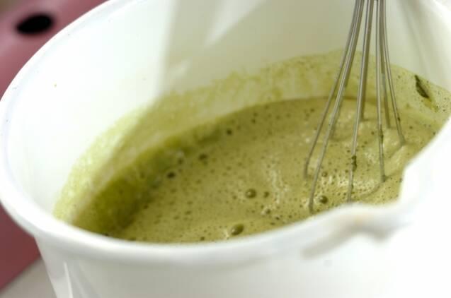 抹茶のスフレ アングレーズソースかけの作り方の手順9