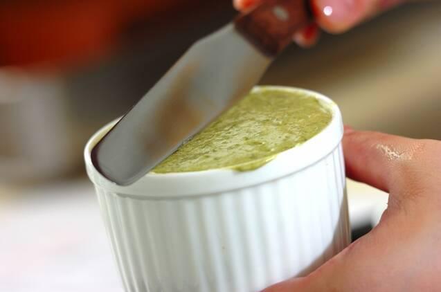 抹茶のスフレ アングレーズソースかけの作り方の手順13