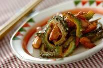 ゴーヤと鶏肉のマヨ炒め