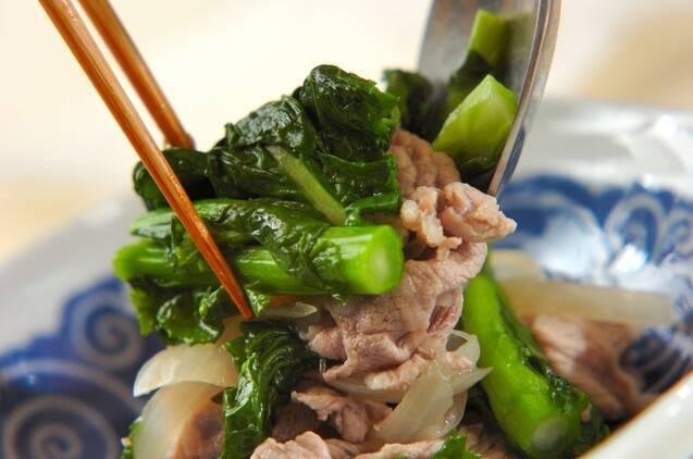 豚と菜の花のサッパリ煮の作り方の手順5