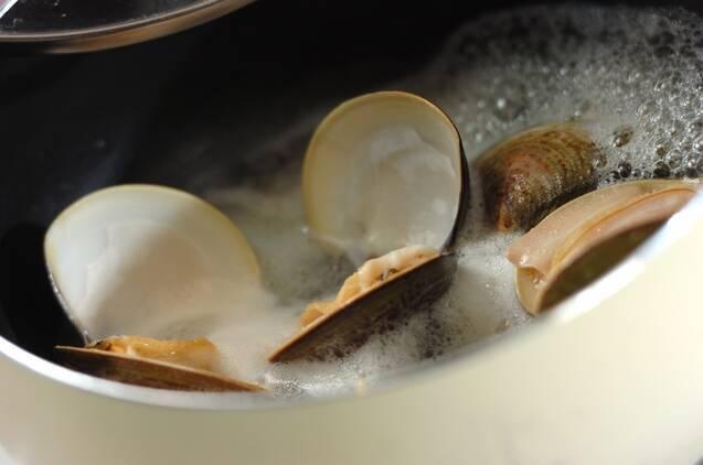 ハマグリの酒蒸しスープの作り方の手順2