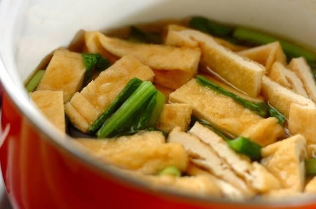 小松菜の卵とじの作り方の手順2