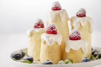 フライパンでできる!聖なる夜のホワイトキャンドルケーキ
