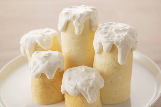 フライパンでできる!聖なる夜のホワイトキャンドルケーキの作り方の手順9