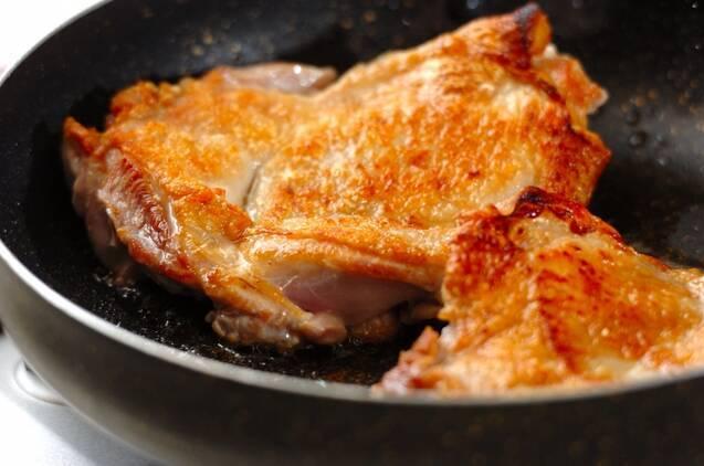 チキンステーキのハニーマスタードソースの作り方の手順3