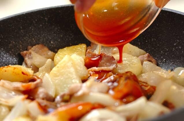 豚ジャガコチュジャン炒めの作り方の手順4