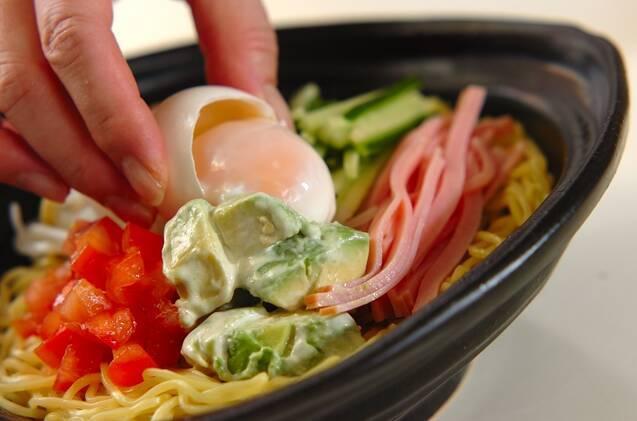 カレー風味の具だくさん冷やし中華の作り方の手順4