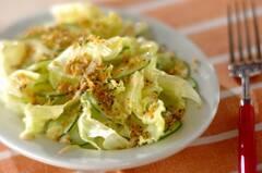 カリカリパン粉がけサラダ
