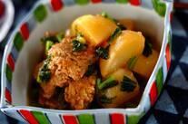 カブと鶏団子風煮物