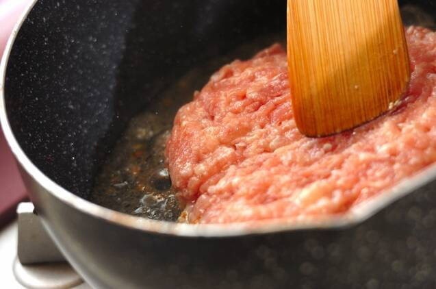 カブと鶏団子風煮物の作り方の手順2