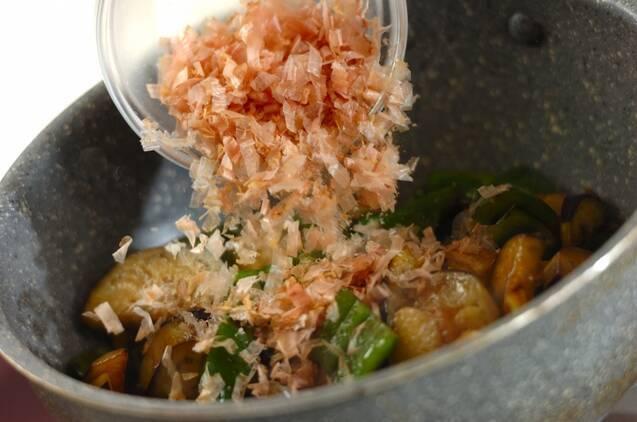 ナスとピーマンの炒め物の作り方の手順4
