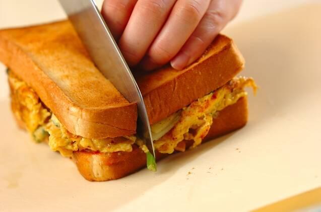 スペイン風オムレツサンドイッチの作り方の手順4