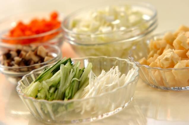 ジャージャー麺の作り方の手順1