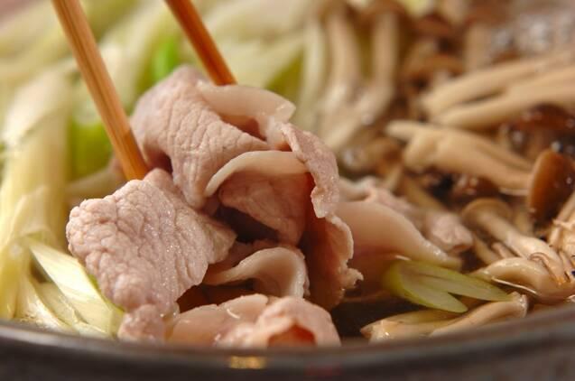 豚しゃぶ鍋の作り方の手順3