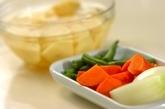 ジャガイモとインゲンの煮物の下準備1