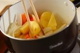 ジャガイモとインゲンの煮物の作り方1