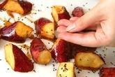 鶏の唐揚げ+大学芋の作り方4