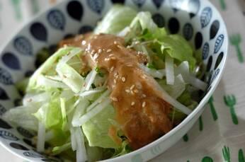 梅ゴマドレッシングのサラダ