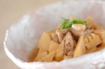タケノコと鶏と麩のお手軽煮込み