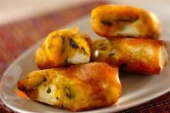 カボチャとチーズの春巻き