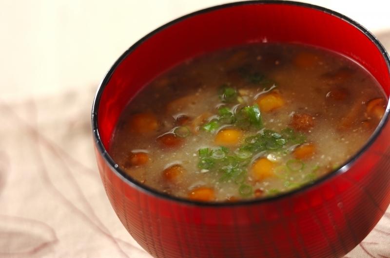 3. なめこと納豆の味噌汁