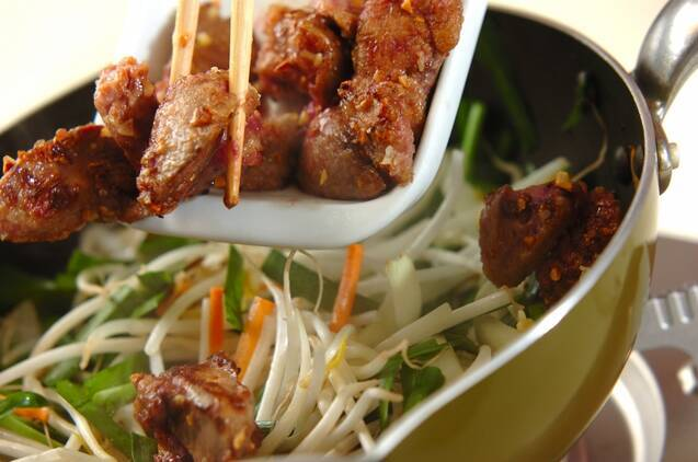 鶏レバーの中華炒めの作り方の手順9