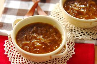 レンジで簡単本格オニオンスープ