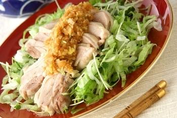 ゆで鶏・ネギソース