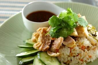 カオマンガイ風鶏の炊き込みご飯