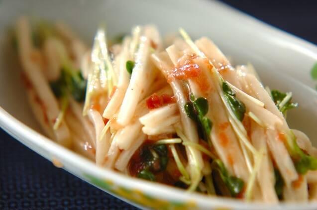 長芋と貝われ菜の梅サラダ