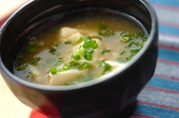 ほろほろ豆腐のおみそ汁