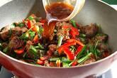 ピリ辛レバニラ炒めの作り方9