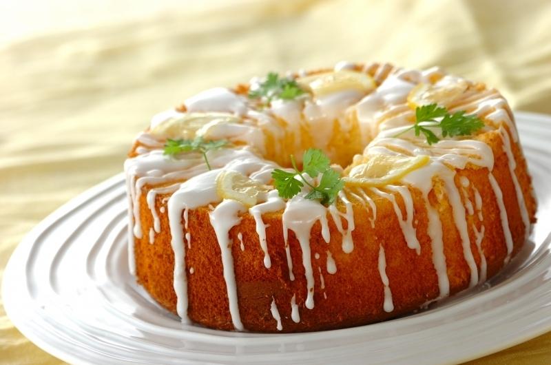 レモンの焼き菓子(はちみつレモンのシフォンケーキ)