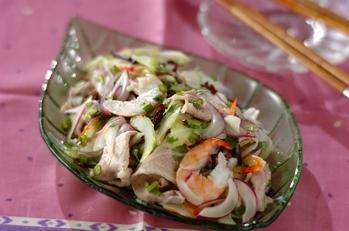 さわやかな辛さタイ風サラダ