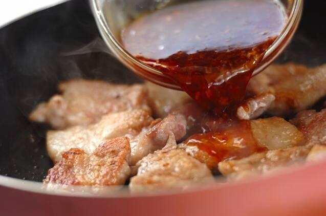ピリ辛豚のスタミナ丼の作り方の手順2