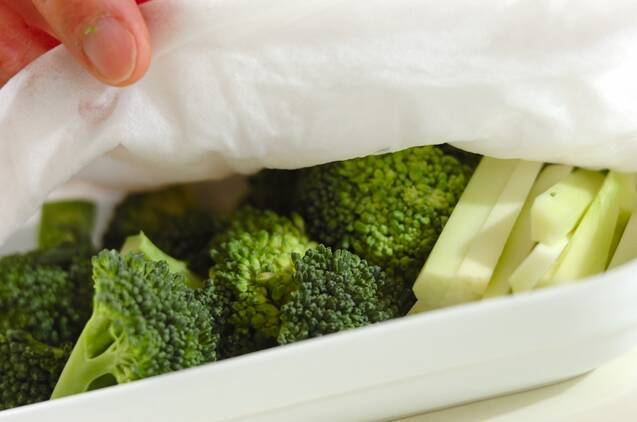 ブロッコリーの七味みそディップの作り方の手順2