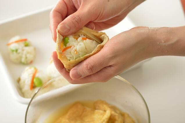 レンジで簡単いなり寿司の作り方の手順9