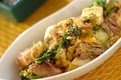 豆腐とオカヒジキのチャンプルー