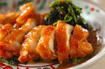 鶏もも肉とホウレン草のしょうゆ煮