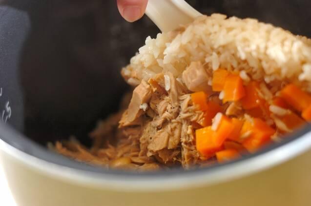 ツナと大豆の炊き込みご飯の作り方の手順3