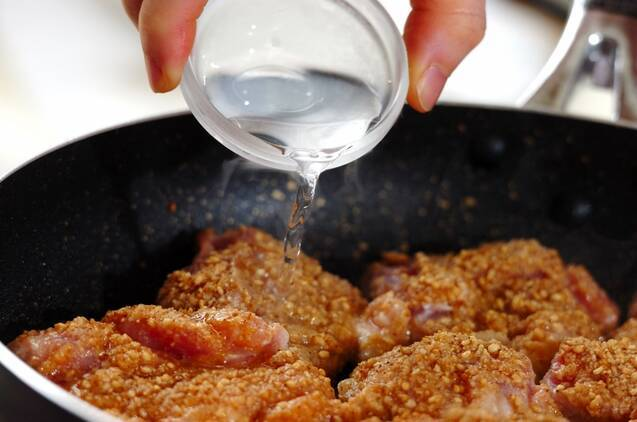 鶏肉のゴマみそ焼きの作り方の手順6