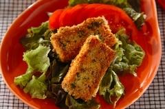 豆腐のチーズパン粉焼き