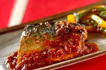 作り置き!焼き肉のタレでサバの韓国風みそ煮