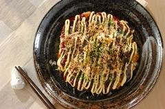 白菜のお好み焼き