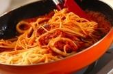 イカのトマトスパゲティーの作り方4