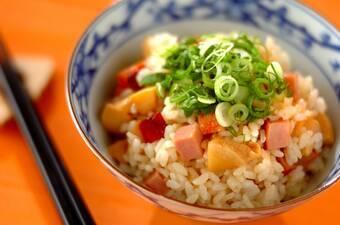 タケノコと焼豚の混ぜご飯