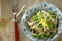菊芋と水菜のユズ風味ラぺ