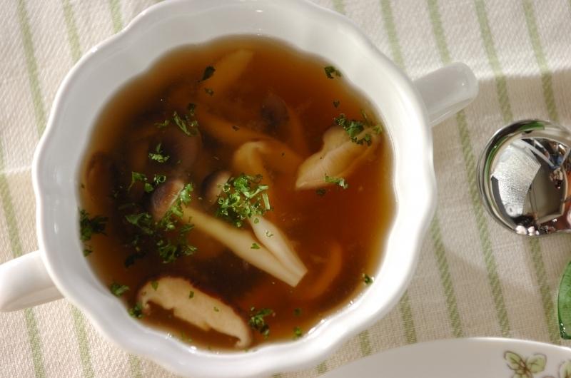 きのことチーズのスープ