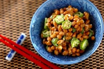 納豆とオクラの塩麹和え