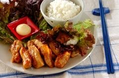 鶏の照り焼き手巻きご飯